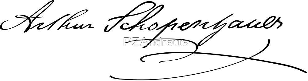 Signature of Arthur Schopenhauer by PZAndrews