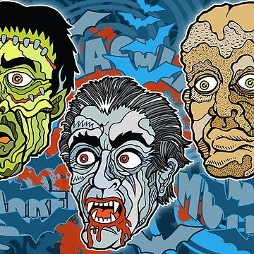 Frankenstein! Dracula! The Mummy! by RossRadiation