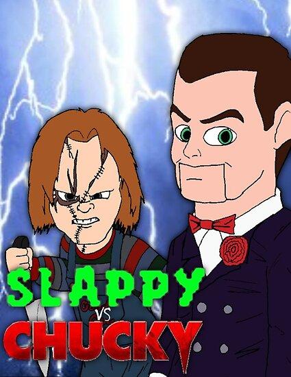 slappy vs chucky posters by viximixi redbubble