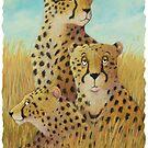 Three Cheetahs by Susan Fox