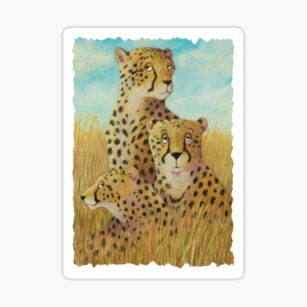 Three Cheetahs Sticker