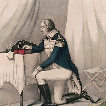 Washington At Prayer - Vintage Lithograph - Currier and Ives by warishellstore
