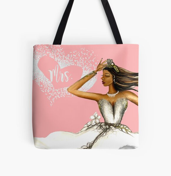 Ms. to Mrs. All Over Print Tote Bag