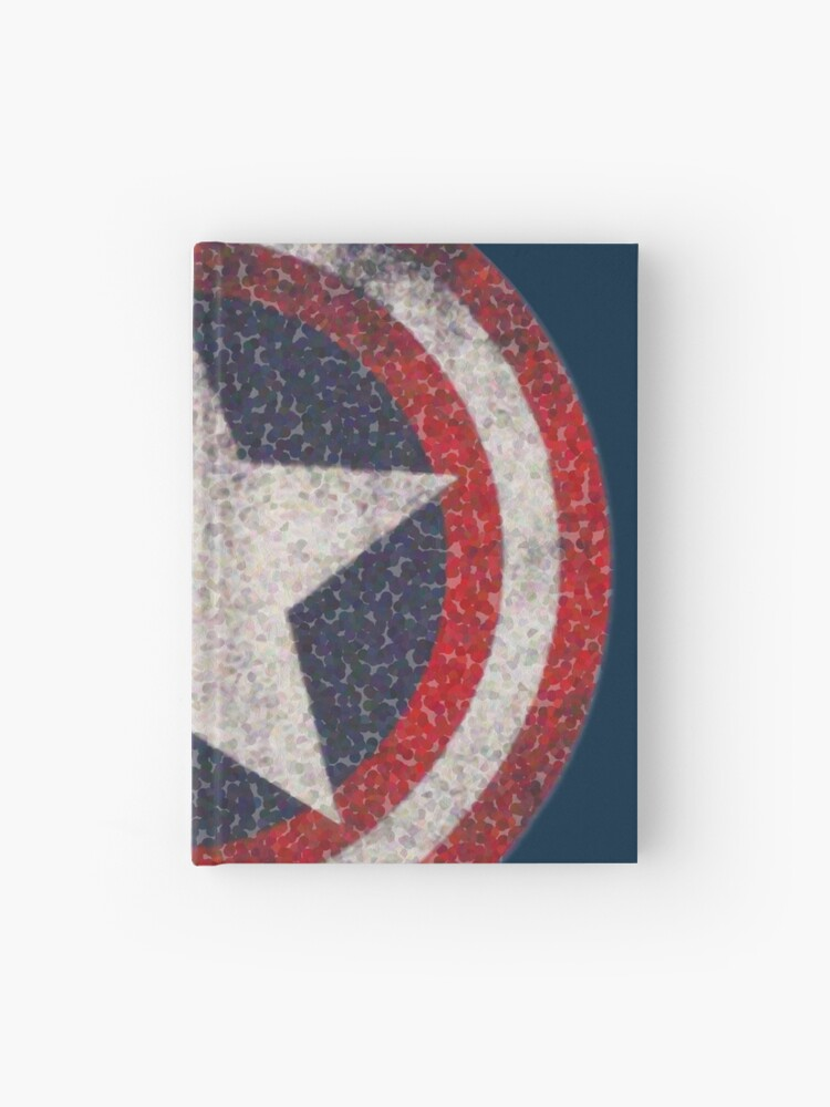 American Hero Star Bubble Logo   Hardcover Journal