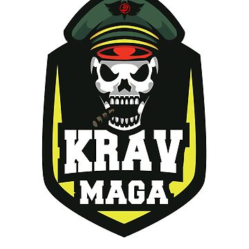 Awesome Cool Krav Maga Military Grim Reaper Skull Design by loumed