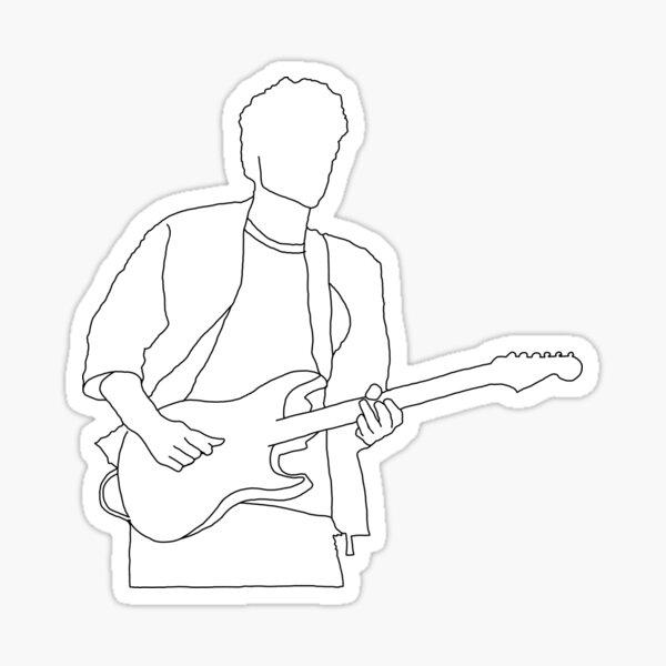 John Mayer outline Sticker