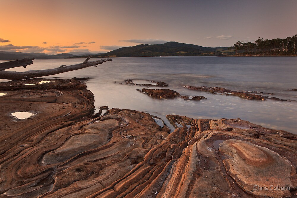 Sunset from Sandrock Point 2 by Chris Cobern