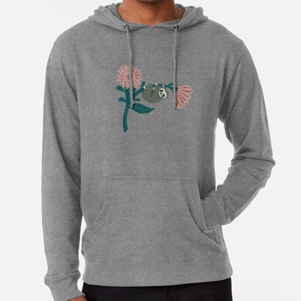 Einfach nur rumhängen - fröhliches Faultier über riesiges Gänseblümchen Leichter Hoodie