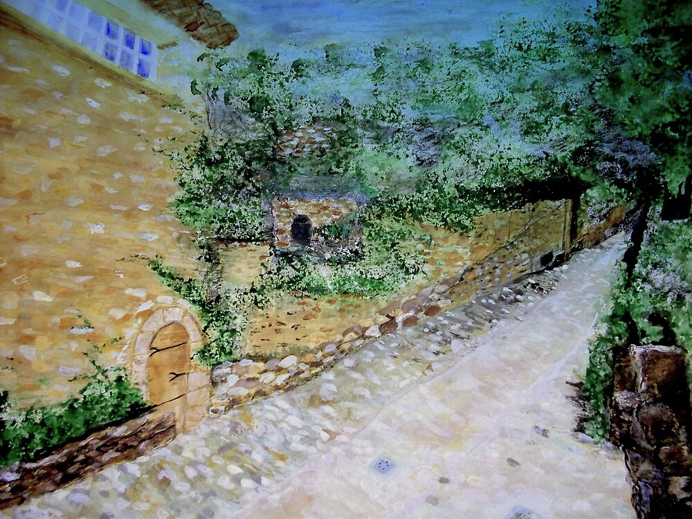 The Path by the Stone House  by fiat777