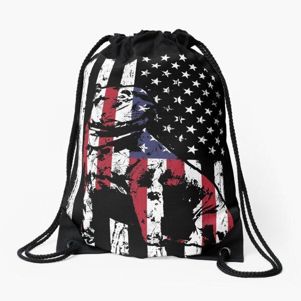 American Bully Pitbull Flag Perfect Pitbull Lover gift Drawstring Bag