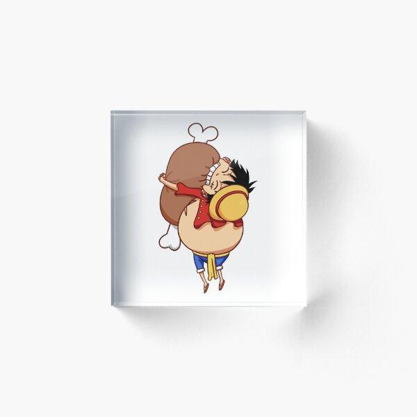 Luffy hugging meat (biting) Acrylic Block
