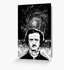 A Portrait of Poe—Into the Maelstrom Greeting Card