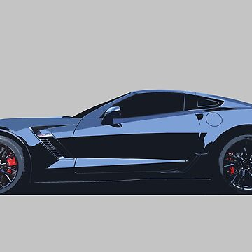 C7 Chevy Corvette - stylized color by mal-photography