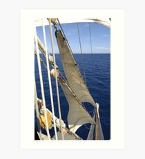 "Sailing: Clipper ""Sir Robert"" 11 - www.sir-robert.com Art Print"