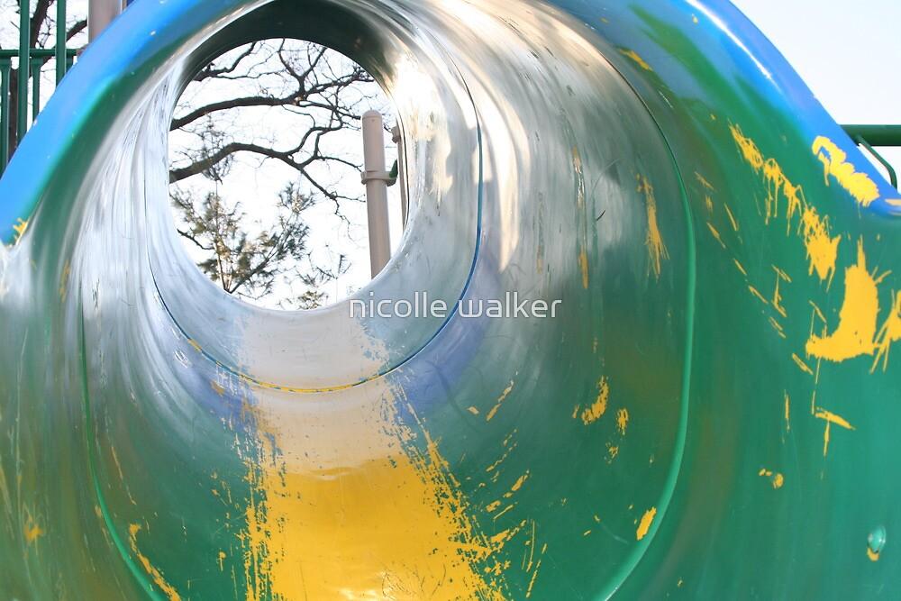 rundown playgrounds-tube slide 1 by nicolle walker