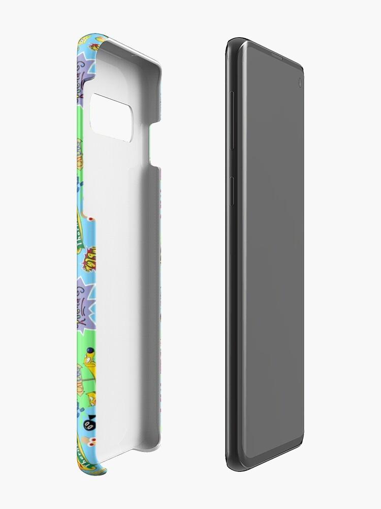 Vista alternativa de Funda y vinilo para Samsung Galaxy ¡Nicktoons hawaiano Print-a-Palooza!
