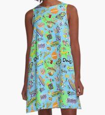 Nicktoons Hawaiian Print-a-Palooza! A-Line Dress