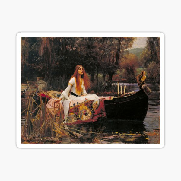 The Lady of Shalott (Waterhouse) Sticker