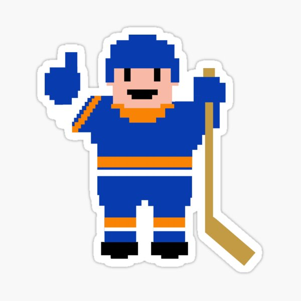 New York East Hockey Player Sticker