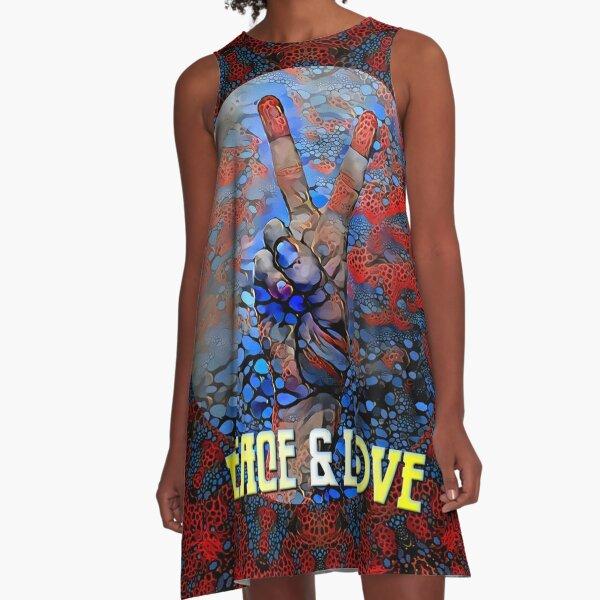 Peace And Love A-Line Dress
