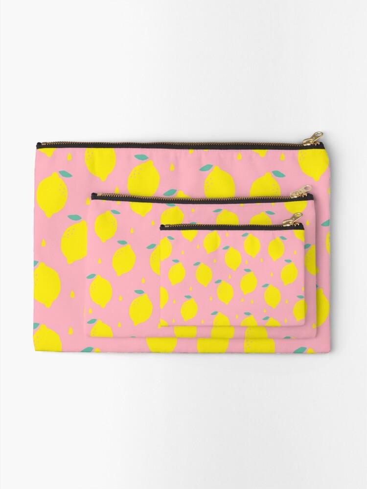 Alternate view of Sweet Lemon Pattern Zipper Pouch