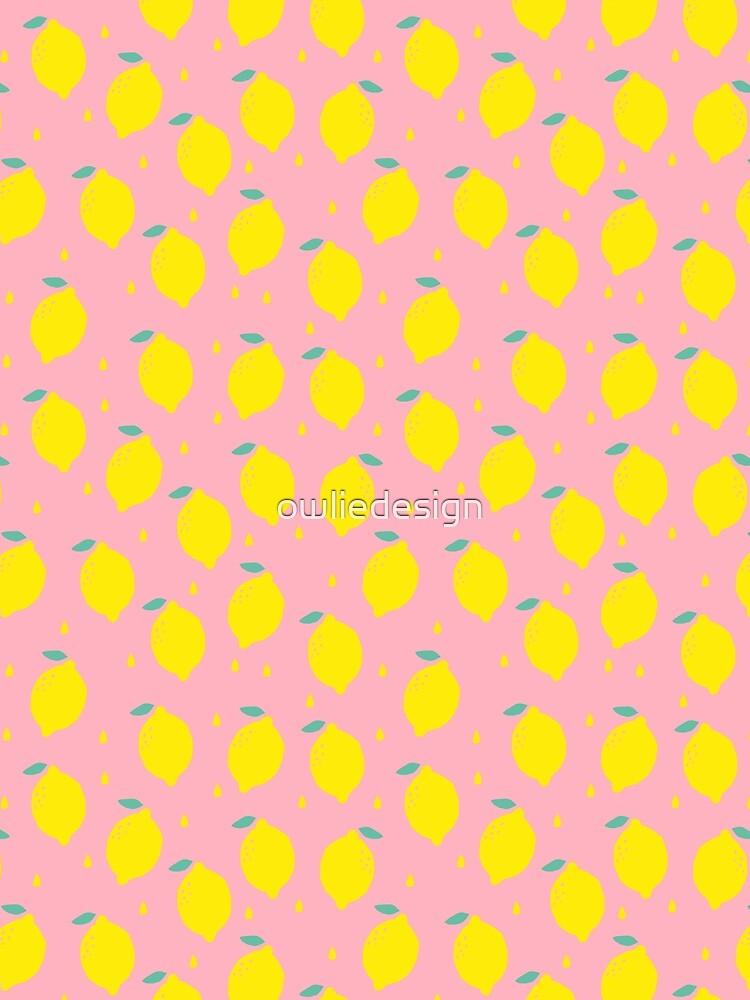 Sweet Lemon Pattern by owliedesign