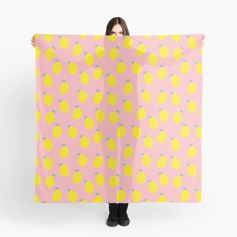 Sweet Lemon Pattern Scarf