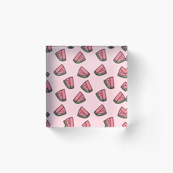 Kawaii Watermelon Pattern Acrylic Block