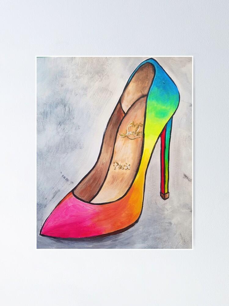 Red Bottom Rainbow High Heels Christian