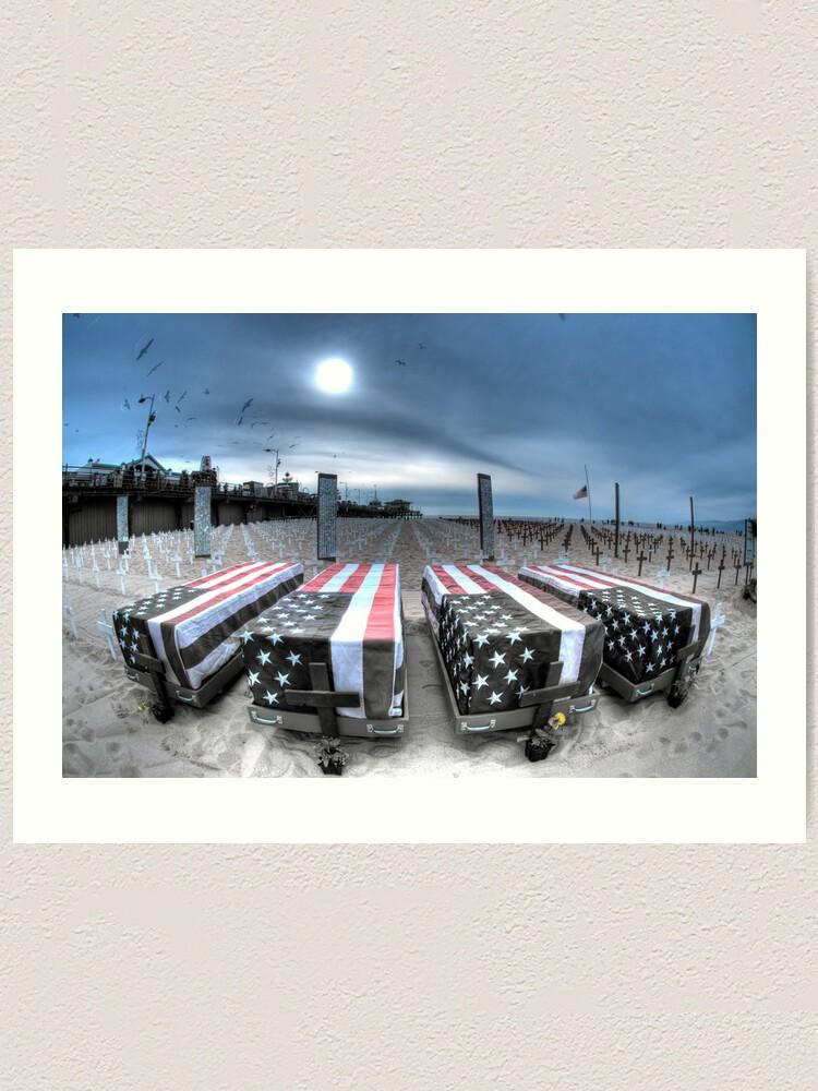 Alternate view of Beachside Memorial Art Print