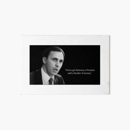Paul Keating: Bucket of Money Art Board Print