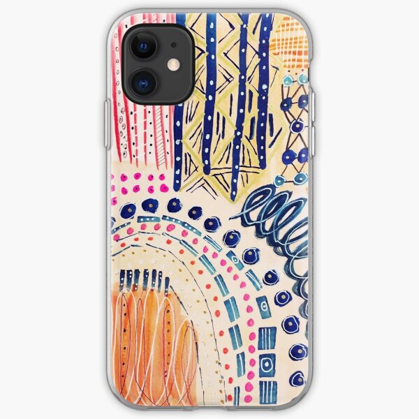 Shakti Abstract Hand Painted Design iPhone Soft Case