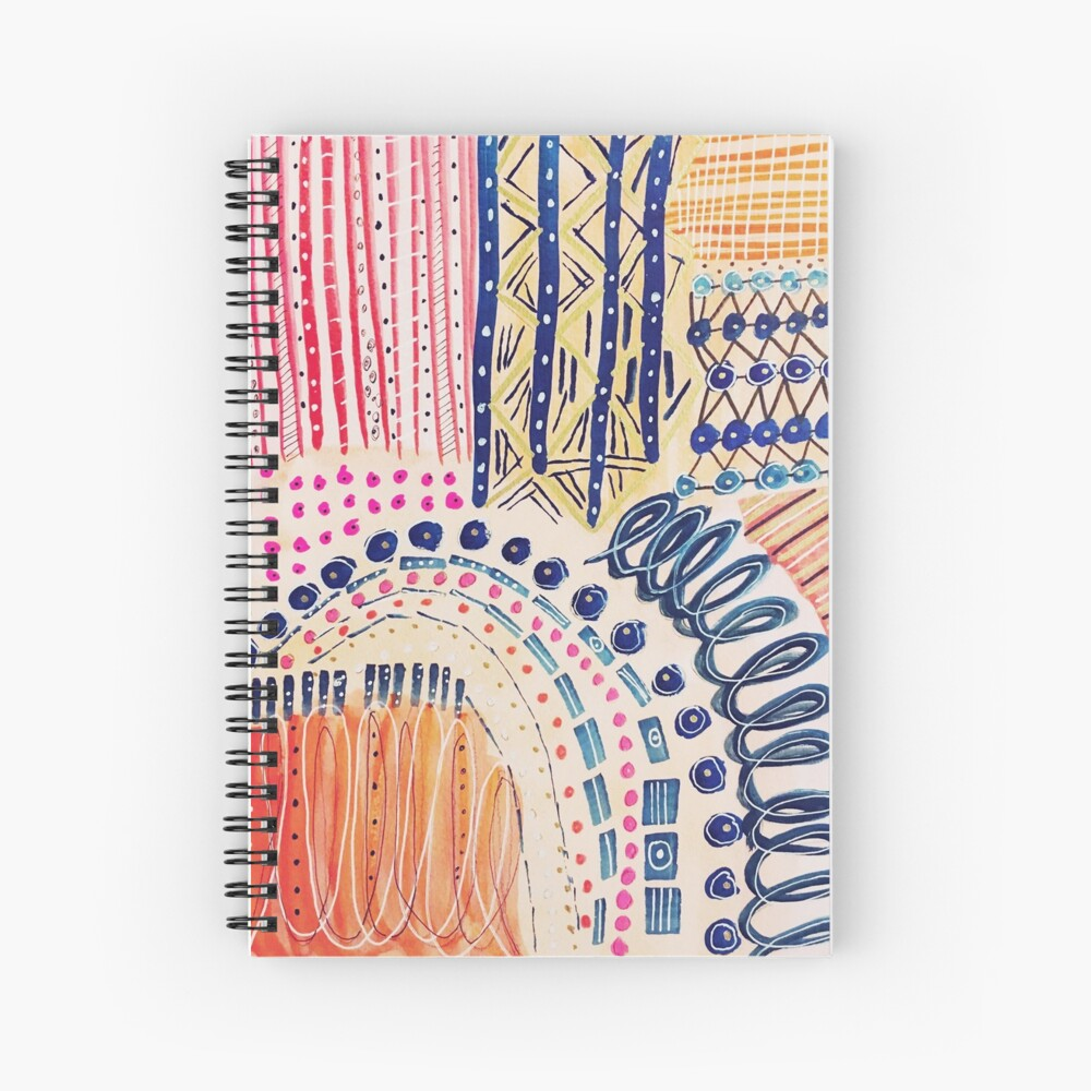 Shakti Abstract Hand Painted Design Spiral Notebook
