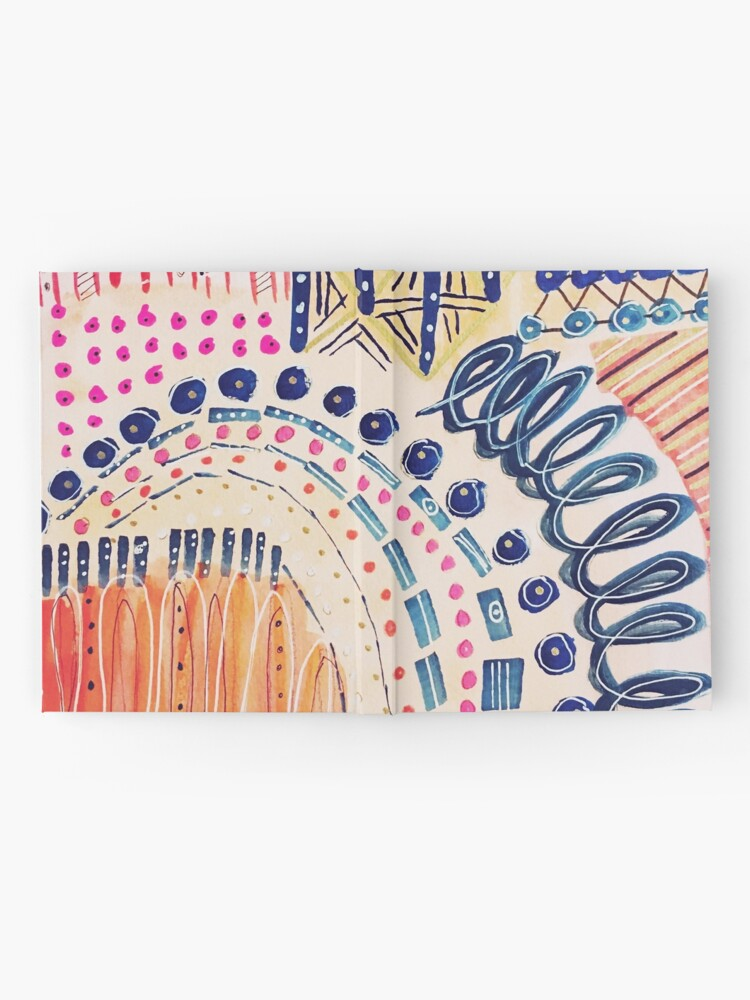 Alternate view of Shakti Abstract Hand Painted Design Hardcover Journal