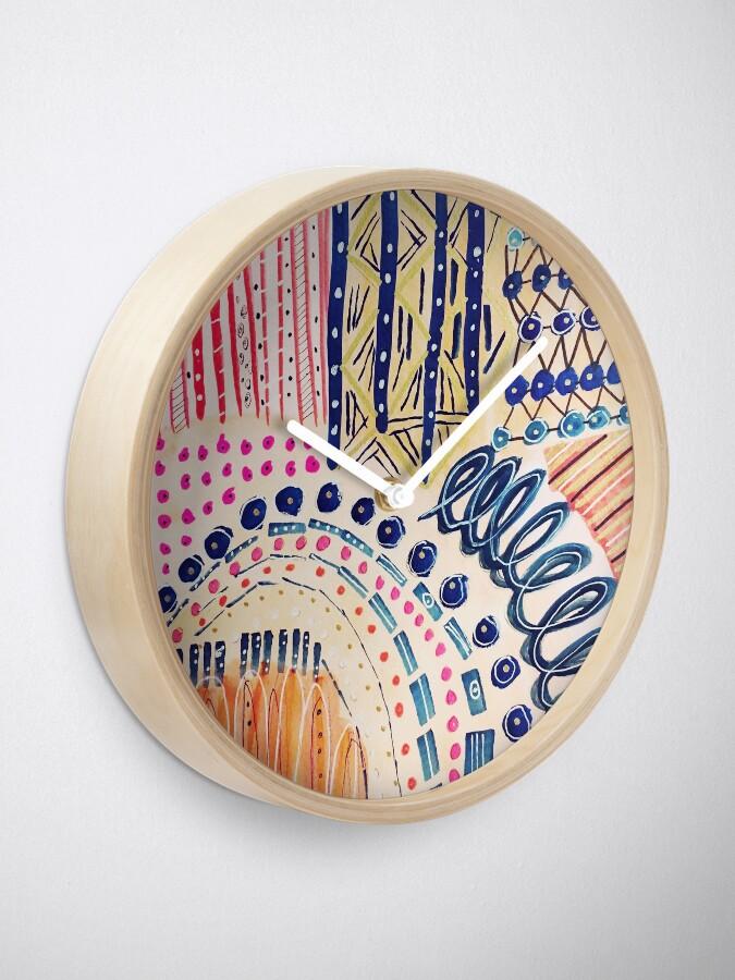 Alternative Ansicht von Shakti abstraktes handgemaltes Design Uhr