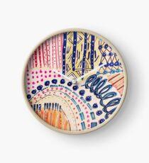 Shakti Abstract Hand Painted Design Clock