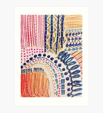 Shakti abstraktes handgemaltes Design Kunstdruck