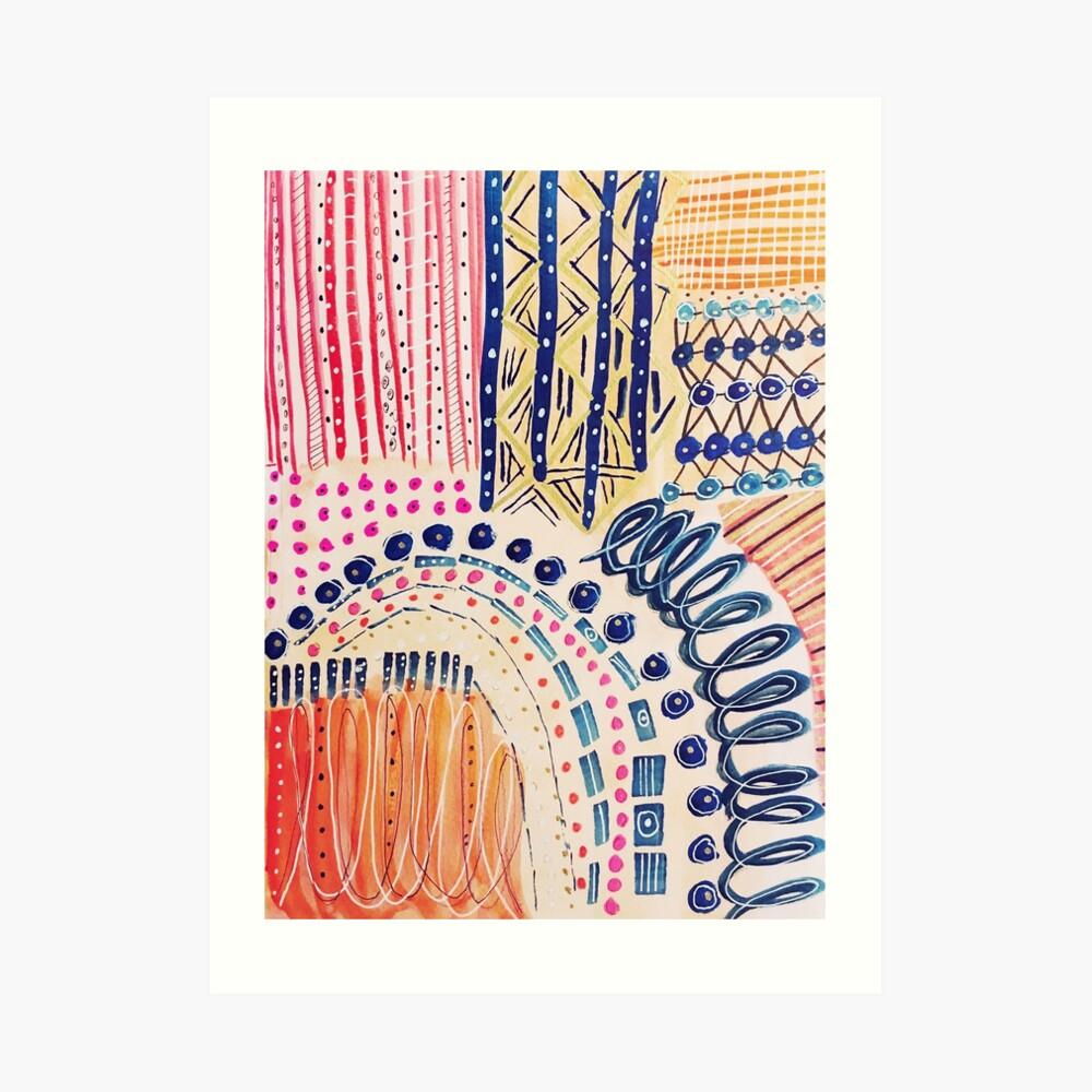 Shakti Abstract Hand Painted Design Art Print