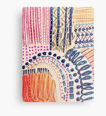 Shakti Abstract Hand Painted Design Metal Print