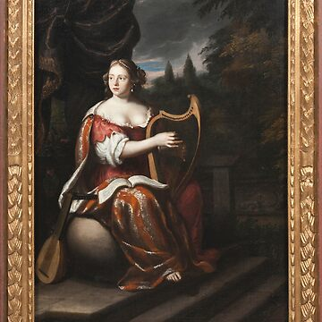 A Lady Playing the Harp - Martin Mytens by themasters