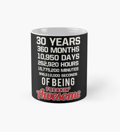 30th Birthday Shirt   Birthday Countdown   Of Being Awesome Mug