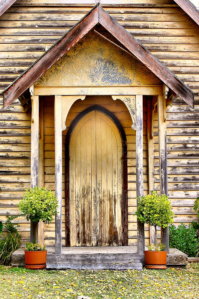 Old Church doorway by Cindy McDonald