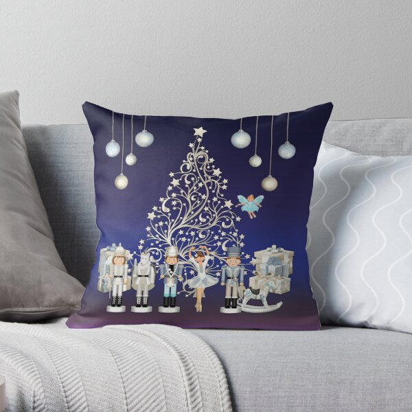 Nutcracker Christmas Special - The Nutcracker Ballet Scene - Nutcracker Story on Christmas eve Throw Pillow