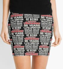 95th Birthday Shirt | Birthday Countdown | Of Being Awesome Mini Skirt