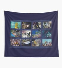 Red Sea Sealife Collage 6 Wall Tapestry
