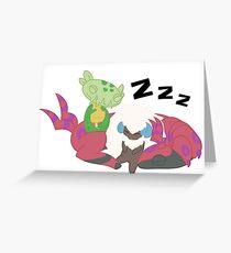 Resting Pokemon Greeting Card