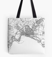 Palma de Mallorca map poster print wall art, Spain gift printable, Home and Nursery, Modern map decor for office, Map Art, Map Gifts Tote Bag