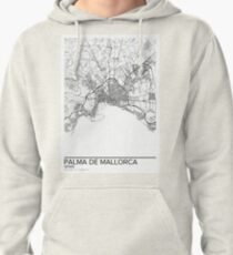 Palma de Mallorca map poster print wall art, Spain gift printable, Home and Nursery, Modern map decor for office, Map Art, Map Gifts Pullover Hoodie