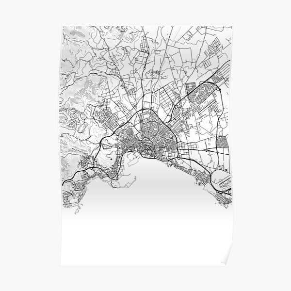 Palma de Mallorca map poster print wall art, Spain gift, Home and Nursery, Modern map decor for office, Map Art, Map Gifts Poster