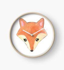 vos | aquarel fox Clock